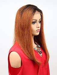 cheap -Remy Human Hair Full Lace Lace Front Wig Asymmetrical style Brazilian Hair Straight Wig 130% 150% Density Women Easy dressing Sexy Lady Natural Best Quality Women's Long Human Hair Lace Wig PERFE