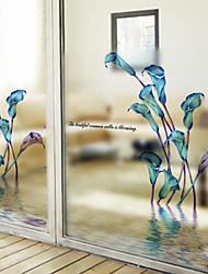 cheap -Window Film & Stickers Decoration Matte / Contemporary Flower / Floral / Character PVC(PolyVinyl Chloride) Window Sticker / Matte