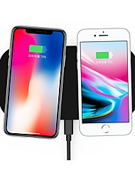 cheap -Nine Five NT8 universal wireless charging pad zinc alloy qi standard dual wireless charger for iphone8/X