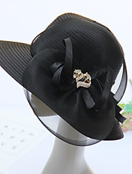 cheap -Tulle Headwear with Cap 1pc Wedding / Party / Evening Headpiece