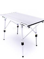 cheap -BEAR SYMBOL Camping Table Outdoor Anti-Slip Folding Aluminium for Fishing Camping Silver