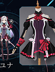 cheap -Inspired by SAO Swords Art Online Yuna Anime Cosplay Costumes Japanese Cosplay Suits Anime Dress / Gloves / Socks For Women's