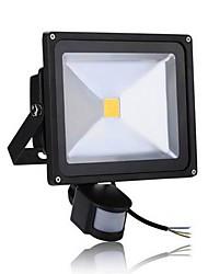 Недорогие -1шт 50 W LED прожекторы Инфракрасный датчик / Монитор обнаружения движения Тёплый белый / Холодный белый 85-265 V Уличное освещение / двор / Сад 1 Светодиодные бусины