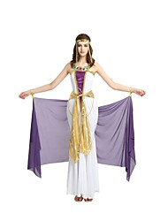 cheap -Egyptian Costume Adults Highschool Women's Halloween Costume For Polyster Solid Colored Halloween Halloween Carnival Masquerade Dress Shawl Headwear