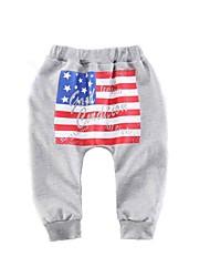 cheap -Baby Boys' Active / Basic Daily / Sports Print Print Cotton Pants Black / Toddler