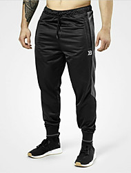 cheap -Men's Running Pants Track Pants Sports Pants Athletic Pants / Trousers Athleisure Wear Bottoms Drawstring Cotton Sport Running Fitness Gym Workout Thermal / Warm Windproof Breathable Black Stripes
