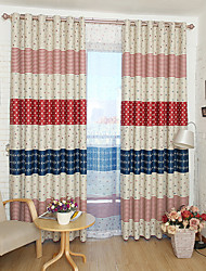 cheap -Two Panel Children's Room Cute Cartoon Style Printed Blackout Curtains