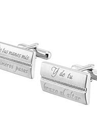 cheap -Personalized Chrome Cufflinks & Tie Clips Groom / Groomsman / Ring Bearer Wedding / Daily Wear -