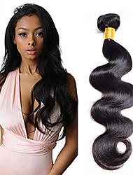 cheap -1 Bundle Indian Hair Body Wave Classic Human Hair Natural Color Hair Weaves / Hair Bulk 10-20 inch Human Hair Weaves Human Hair Extensions / 8A