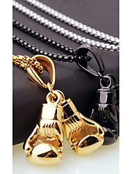 cheap -Men's Chain Necklace Charm Necklace Stylish Foxtail chain Boxing Gloves Fashion European Casual / Sporty Steel Stainless Black Gold Silver 45 cm Necklace Jewelry 1pc For Street Gift