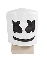 cheap -Mask Halloween Props Halloween Mask Inspired by Cookie Anime White Active Halloween Masquerade Adults' Men's Women's