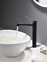 cheap -Bathroom Sink Faucet - New Design Painted Finishes / Black Deck Mounted Single Handle One HoleBath Taps / Brass