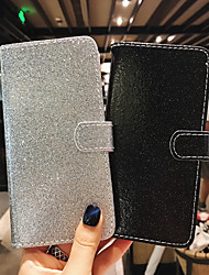 cheap -Case For Apple iPhone X / iPhone 8 Plus / iPhone 8 Flip / Glitter Shine Full Body Cases Solid Colored Hard PU Leather