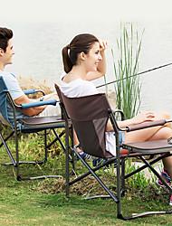 Недорогие -Стулья для рыбалки Складное туристическое кресло Компактность Ультралегкий (UL) Складной холст Алюминий для 1 человек Рыбалка Походы Путешествия Осень Весна Кофейный