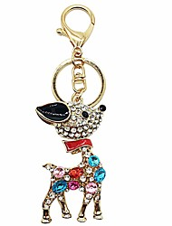 cheap -Keychain Deer Diamond / Rhinestone Decorated Case Sweet Ring Jewelry Red / Blue / Pink For Gift Daily