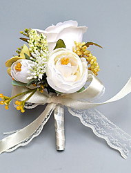 """cheap -Wedding Flowers Boutonnieres / Wrist Corsages Wedding / Party Evening Polyester 2.76""""(Approx.7cm)"""