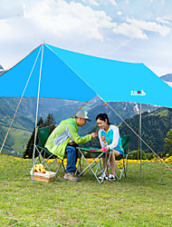 cheap -BSwolf 5 person Camping Shelter Outdoor Windproof UV Resistant Rain Waterproof Single Layered Poled Camping Tent 1500-2000 mm for Fishing Beach Camping / Hiking / Caving Oxford Cloth Waterproof