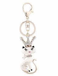 cheap -Keychain Fox Diamond / Rhinestone Decorated Case Sweet Ring Jewelry Brown / Pink / Cream For Gift Date
