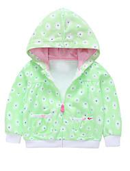 cheap -Baby Girls' Street chic Floral / Geometric Long Sleeve Regular Jacket & Coat Blue / Toddler