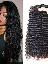 Недорогие -3 Связки Индийские волосы Кудрявый Натуральные волосы 150 g Человека ткет Волосы Удлинитель Пучок волос 8-28 дюймовый Нейтральный Ткет человеческих волос Лучшее качество Для темнокожих женщин 100