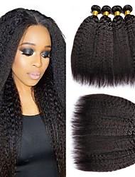 Недорогие -6 Связок Перуанские волосы Яки Натуральные волосы 300 g Человека ткет Волосы Пучок волос One Pack Solution 8-28 дюймовый Естественный цвет Ткет человеческих волос Лучшее качество 100% девственница