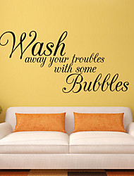 cheap -Decorate Wash Away Hyour Troubles Art Wall Sticker Decoration Decals Mural Painting Removable Decor Wallpaper 27*58cm