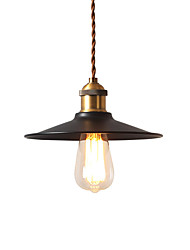 cheap -1-Light Vintage Industrial Style Loft Mini Pendant Lights Black Metal Shade Bars Kitchen Dining Room Lamp