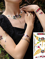 cheap -decal-style-temporary-tattoos-face-body-arm-temporary-tattoos-3-pcs-flower-series-cartoon-series-eco-friendly-new-design-body-arts-masquerade