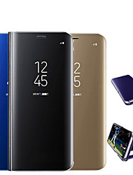 cheap -Phone Case For Xiaomi Full Body Case Flip Xiaomi Mi Mix 2 Xiaomi Mi Mix 2S Xiaomi Mi 8 Xiaomi Mi 8 SE Xiaomi Mi 6X(Mi A2) Xiaomi Mi 6 Xiaomi Mi 5X Xiaomi Mi 5c Xiaomi A1 Plating Mirror Flip Solid
