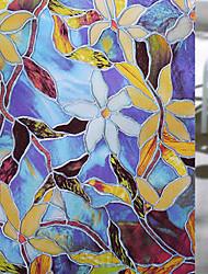 abordables -Film de fenêtre et autocollants Décoration Mat / contemporain Fleur PVC Autocollant de Fenêtre / Mat