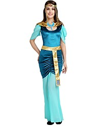 cheap -Egyptian Costume Adults Women's Halloween Costume For Polyster Solid Colored Halloween Halloween Carnival Masquerade Dress Belt Headwear / Neckwear