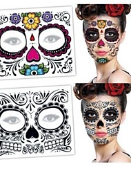 cheap -decal-style-temporary-tattoos-tattoo-sticker-face-temporary-tattoos-3-pcs-totem-series-flower-series-eco-friendly-new-design-body-arts-halloween