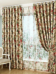 cheap -Country Blackout Curtains Drapes Two Panels Curtain / Dining Room