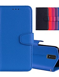 cheap -Case For OnePlus OnePlus 6 / One Plus 5 / One Plus 3 Card Holder / with Stand / Flip Full Body Cases Solid Colored Hard PU Leather