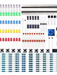 Недорогие -электронный компонентный базовый стартовый комплект с датчиком точного потенциометра с датчиком зуммера, совместимым с arduino uno