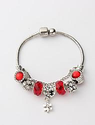 cheap -Women's Cuff Bracelet Bead Bracelet Single Strand Beads Creative Heart Ladies Vintage Elegant Resin Bracelet Jewelry Dark Blue / Red / Light Blue For Date Holiday / Rhinestone