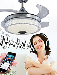 cheap -1-Light Ecolight™ 90 cm Adjustable / WIFI Control / Bluetooth Control Ceiling Fan Metal Novelty Electroplated Contemporary / LED 110-120V / 220-240V / SAA / FCC