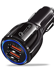 cheap -Car Charger USB Charger USB QC 3.0 2 USB Ports 3.1 A DC 12V-24V for iPhone X / iPhone 8 Plus / iPhone 8