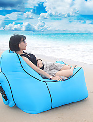 cheap -Air Sofa Inflatable Sofa Sleep lounger Air Bed Outdoor Waterproof Portable Lightweight Fast Inflatable Nylon 110*90*45 cm Beach Camping Outdoor Spring, Fall, Winter, Summer Red Blue Violet