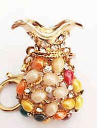 cheap -Keychain Diamond / Rhinestone Decorated Case Fashion Ring Jewelry Gold For Gift