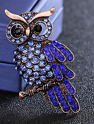 cheap -Men's Sapphire Cubic Zirconia Brooches Vintage Style Stylish Bird Luxury Fashion British Imitation Diamond Brooch Jewelry Blue For Daily Holiday
