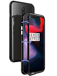 cheap -Magnetic Single Sided Case For OnePlus OnePlus 6 Shockproof / Magnetic Back Cover Solid Colored Hard Metal