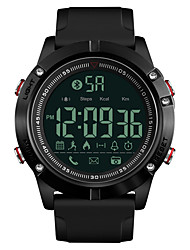 cheap -SKMEI Men's Sport Watch Military Watch Digital Watch Japanese Digital Silicone Black 50 m Water Resistant / Waterproof Bluetooth Alarm Digital Luxury Fashion - Black One Year Battery Life / Stopwatch