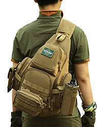 cheap -30 L Hiking Sling Backpack Military Tactical Backpack Rain Waterproof Quick Dry Wear Resistance High Capacity Outdoor Hunting Hiking Cycling / Bike Nylon Brown Army Green Camouflage