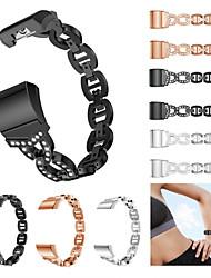 Недорогие -Ремешок для часов для Fitbit Charge 2 Fitbit Спортивный ремешок / Дизайн украшения Нержавеющая сталь / Керамика Повязка на запястье