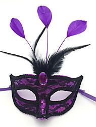 cheap -Mask Halloween Props Masquerade Mask Inspired by Elf Phantom Of The Opera White Purple Halloween Halloween Carnival Adults' Men's Women's