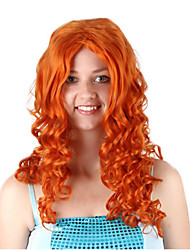 cheap -Cosplay Costume Wig Synthetic Wig Cosplay Wig Merida Curly Bob Wig Blonde Long Golden Brown Synthetic Hair 26 inch Women's Anime Cosplay Women Blonde Brown