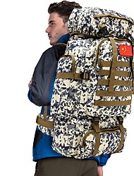 cheap -70 L Hiking Backpack Rucksack Military Tactical Backpack Breathable Straps - Rain Waterproof Wear Resistance High Capacity Outdoor Hunting Hiking Camping Nylon Green Sky Blue+White Camouflage