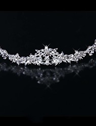 cheap -Alloy Tiaras with Crystal / Rhinestone 1 Piece Wedding / Special Occasion Headpiece