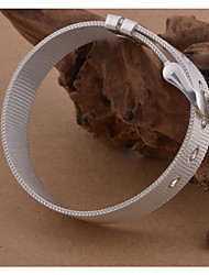 cheap -Men's Loom Bracelet Wide Bangle Stylish Braided Wave Stylish Simple Elegant Copper Bracelet Jewelry White For Daily Date / S925 Sterling Silver